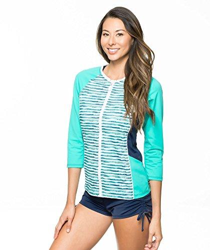 Nautica Women's Palm To Perfection Solid Short Bikini Bottom, Navy, 8