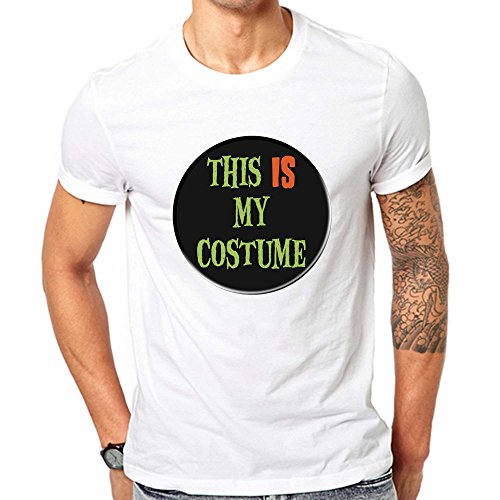 GullPrint Men's Halloween This Is My Costume T Shirt X-Large (Grinch Cast Costumes)