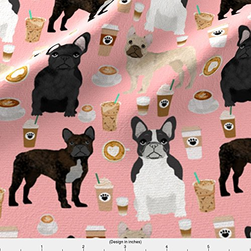 french bulldog fleece fabric - 5