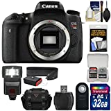 Canon EOS Rebel T6s Wi-Fi Digital SLR Camera Body with 32GB Card + Case + Strap + Flash + Remote + Kit