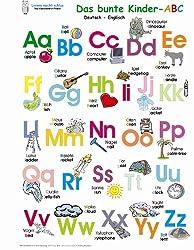 Das bunte Kinder-ABC. Poster: Deutsch /Englisch