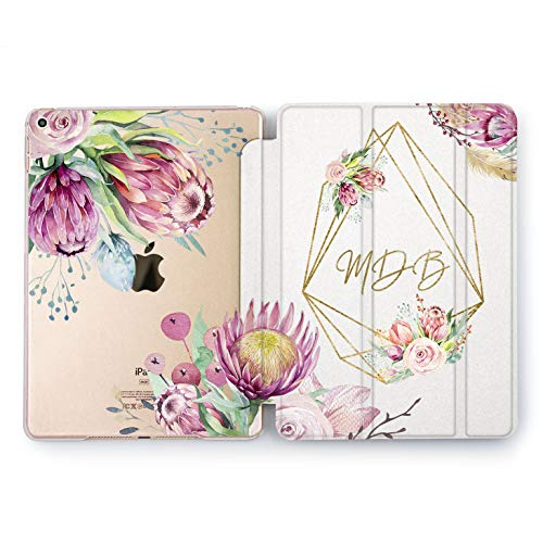 Wonder Wild Bellis Sweet Custom Name Cute iPad 5th 6th Gen Print Mini 1 2 3 4 Air 2 Pro 10.5 Floral Design 12.9 2018 2017 9.7 inch Smart Stand Cover Personalized Monogram Crown Flowers Name Design
