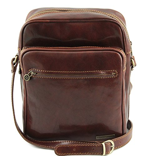 Tuscany Leather Oscar Exclusive Leather Crossbody Bag Brown by Tuscany Leather