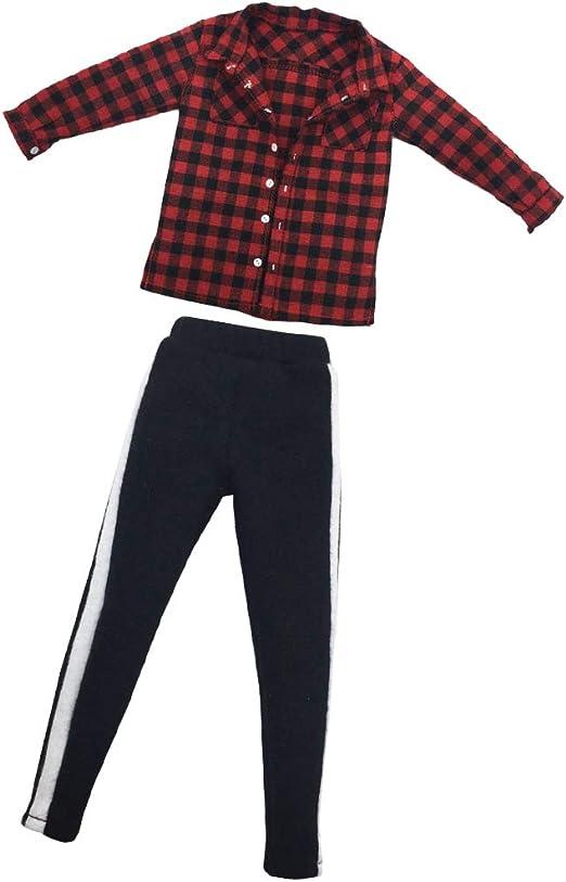 sharprepublic 1: 6 Escala Roja para Hombre, Camisa A Cuadros, Chaqueta Y Pantalón para Muñeca De 12 Pulgadas, Accesorios De Bricolaje, Ropa: Amazon.es: Juguetes y juegos
