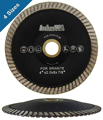 Turbo Contour Diamond Blades for Curved Cutting (4 Sizes) (4 in. x 2.8mm x 7/8-5/8 in. Arbor)