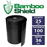 Bamboo Shield- 25 foot long x 36 inch x 100 mil bamboo root barrier/water barrier