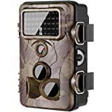 yuser [2018 Version Trail Camera 16MP 1080P Wildlife Game Camera 120° PIR Angle, 0.2s Trigger Time, 65ft Infrared Camera Motion Activated with Night Vision, 2.4'' LCD, IP65 Waterproof