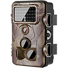 [Newest] Trail Camera 16MP 1080P Wildlife Game Camera 120° PIR Angle, 0.2s Trigeer Time, 65ft Infrared Camera Motion Activated with Night Vision, 2.4'' LCD Display, IP65 Waterproof