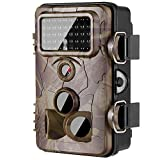 ANCHEER [Updated] Trail Camera Game Wildlife Camera 2.4'' LCD 42 PCS No Glow LEDs and 12MP 1080P HD Infrared Night Vision IP66 Waterproof,120° Angle,0.2s Trigger Time with Time Lapse