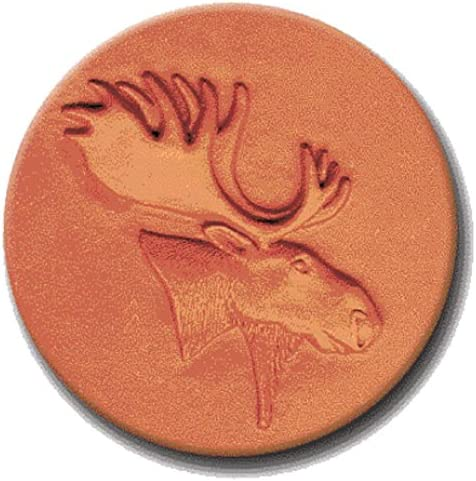 RYCRAFT 2 Round Cookie Stamp with Handle /& Recipe Booklet-MOOSE HEAD