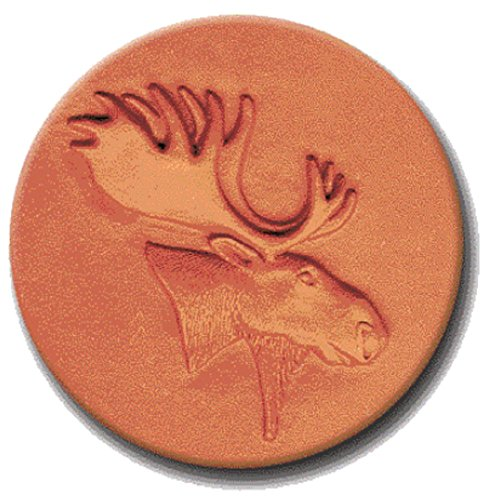RYCRAFT 2 inch Round Cookie Stamp with Handle & Recipe Booklet-MOOSE HEAD
