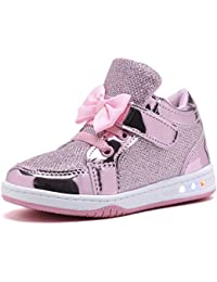 YL313 Toddler Glitter Shoes Girl's Flashing Sneakers With...