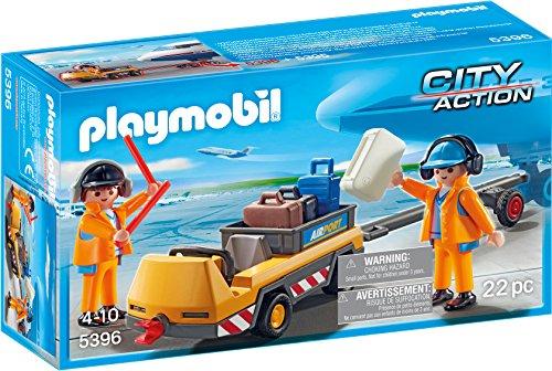 (PLAYMOBIL® Aircraft Tug with Ground Crew Building Set)