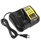 YABELLE 12V MAX and 20V MAX Replacement Li-Ion Battery Charger for Dewalt DCB112 DCB105 DCB115 DCB203 DCB205,2A Output DCB101