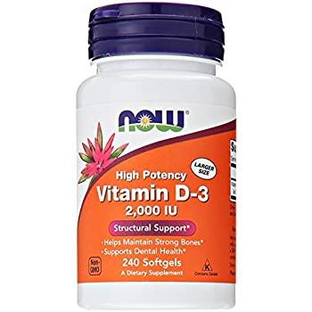 NOW Vitamin D-3, Structural Support 2000 I.U., 240 Softgels