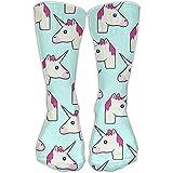 Cartoon Unicorn.jpeg Men And Women Casual Socks (1 Pair) Living 3D Printing Socks Sports Stretch Compression Socks For Stocking