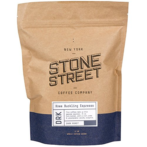 Stone Street Coffee Knee Buckling Espresso High Caffeine Whole Bean Coffee, 1 lb. Bag, Medium Dark Roast