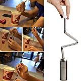 MChoice Collapsible Reusable Straw Stainless Portable Travel Outdoor Household
