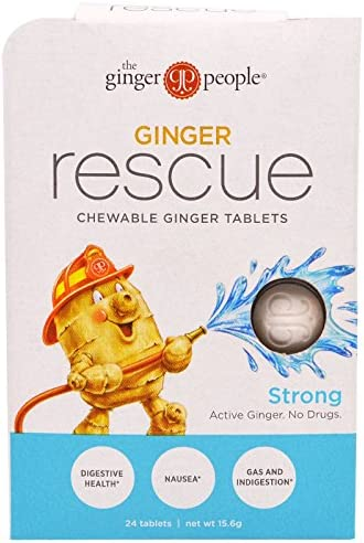 The Ginger People, Ginger Rescue, Chewable Ginger Tablets, Strong, 24 Tablets 15.6 g – 2PC