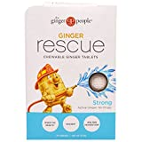 The Ginger People, Ginger Rescue, Chewable Ginger Tablets, Strong, 24 Tablets (15.6 g) – 2PC For Sale