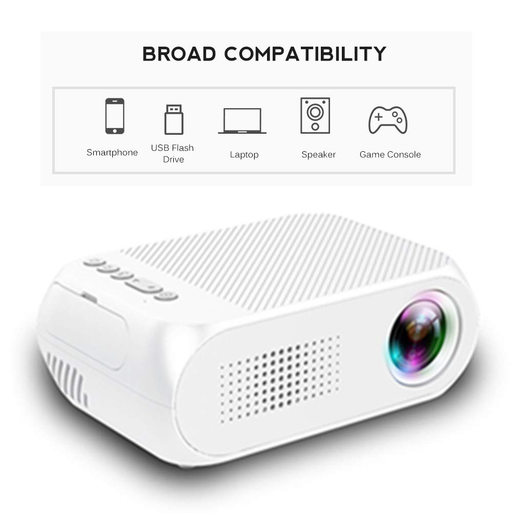 Mini proyector Gaming y Home Cinema Projector Media Player YG320 ...