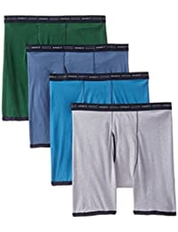 Hanes Red Label Men's 4-Pack No Ride Up Boxer Briefs