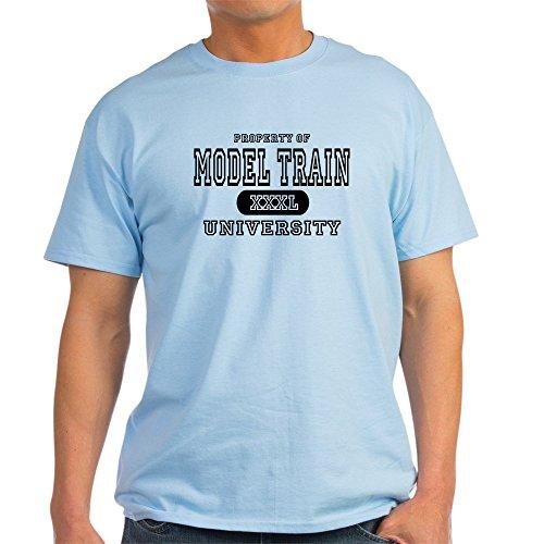CafePress Model Train University Ash Grey T-Shirt - 100% Cotton T-Shirt - University Ash Grey T-shirt