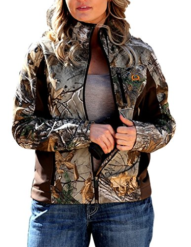 Cinch Women's Outdoor Water Repellent Camo Softshell Concealed Carry Jacket