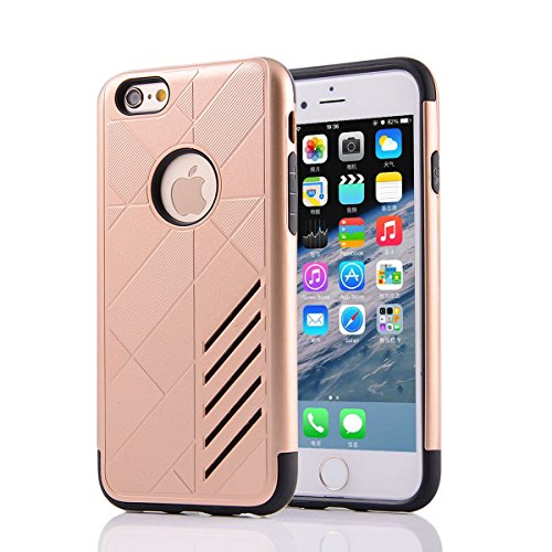 "HYAIT® For IPHONE 6 4.7"" [CONTRAST]Case Dual Layer Hybrid Armor Rugged Plastic Hard Shell Flexible TPU Bumper Protective Cover-XJAE05"