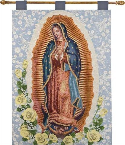 Manual Inspirational Collection 26 X 36-Inch Wall Hanging and Finial Rod, Our Lady of Guadalupe