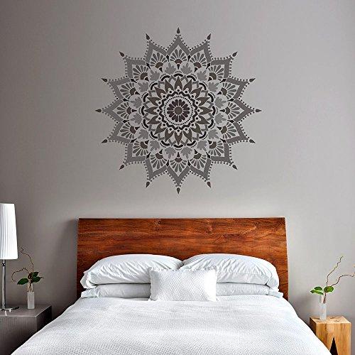 Mandala Stencil Radiance - Trendy Easy Beautiful DIY Wall Stencil Designs - Reusable Stencils for DIY Home Decor - By Cutting Edge Stencils (44'') by Cutting Edge Stencils (Image #3)