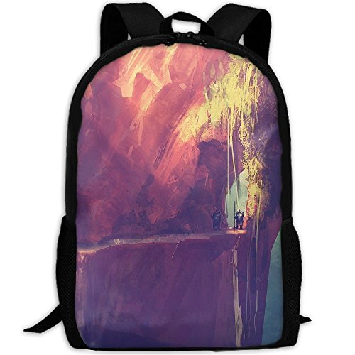 Price comparison product image Markui Adult Travel Hiking Laptop Backpack Cliff Painting School Office Multipurpose Zipper Bags Fashion Durable Daypacks