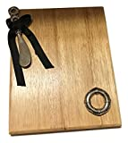 Life Saver Wood Cheese Board with Spreader