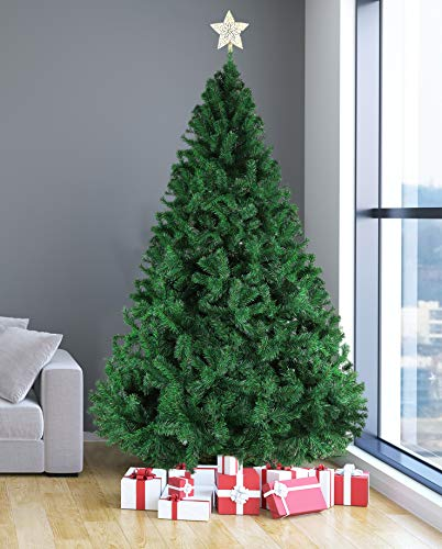 (Livebest 8ft Artificial Holiday Christmas Tree with 1500 Tips Gorgeous Faux-Pine Xmas PVC Tree (Green, 8ft))
