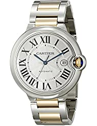 Cartier Mens W69009Z3 Ballon Bleu Stainless Steel and 18K Gold Automatic Watch