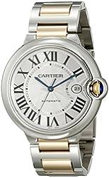 Cartier Men's W69009Z3 Ballon Bleu Stainless Steel and 18K Gold Automatic Watch