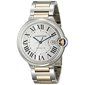51nwQjnaT6L. SS300  - Cartier Men's W69009Z3 Ballon Bleu Stainless Steel and 18K Gold Automatic Watch