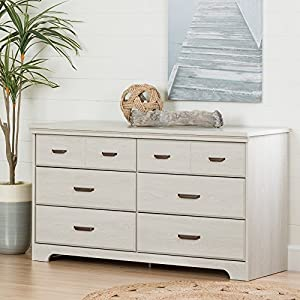 South Shore Versa 6-Drawer Double Dresser for Bedrooms, Hallways or Living Rooms