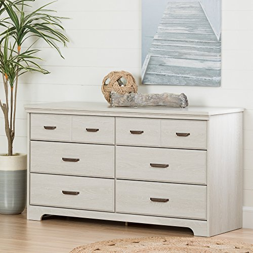 South Shore Versa Collection 6-Drawer Double Dresser, Winter Oak with Antique Handles ()