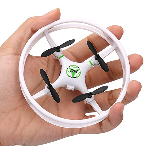 Super Durable Nano Quadcopter Drone with Protective Bull bars for Children / Beginners Gyro with 3D Flip Flash Light