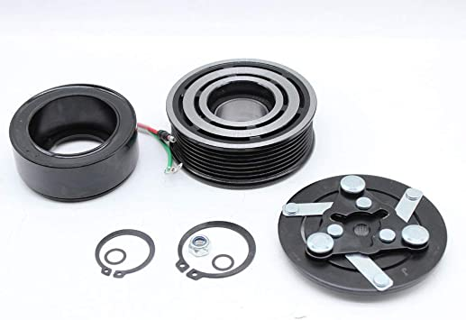 Fit For 07-14 HONDA CR-V AC A//C Compressor Clutch Kit Pulley Bearing Coil Plate