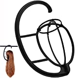 #4: 2 Pack Dreamlover Wig Hanger, Portable Hanging Wig Stand for All Wigs and Hats, Collapsible Wig Dryer, Durable Wig Stand Tool Holder, Hat and Cap Holder (Black)