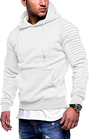 COOFANDY Mens Workout Hoodie Gym Sport Sweatshirt Athletic Pullover Casual Fashion Hooded With Pocket