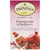 Twinings Teabags Herbal Pomegranate and Raspberry, 20ea (Pack of 6)