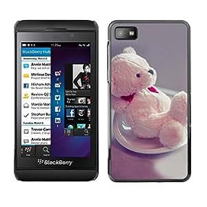 TopCaseStore / la caja del caucho duro de la cubierta de protección de la piel - Cute Bear Heart - Blackberry Z10