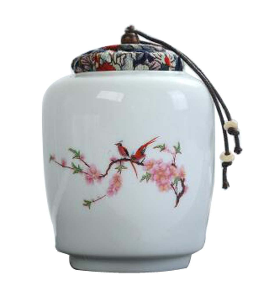 Black Temptation [Bird] Ceramic Tea Canister Coffee Tins Spice Jar Exquisite Tea Caddy
