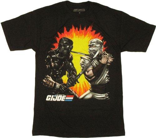 Samurai Joes G.I. Joe Snake Eye Storm Shadow T-shirt (Medium) ()