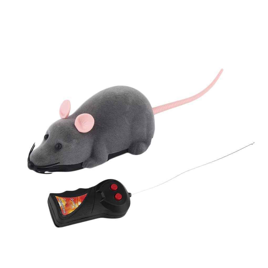 InisIE Wireless Remote Control Mouse Plastic Electronic Rat Funny Motion Mice Playing Cat Toys