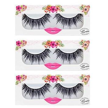 3ec8172104e Amazon.com : LashXO Lashes- DOLL UP-3 Packs Premium Quality False Eyelashes  Compare to brand make up and House of Lashes : Beauty