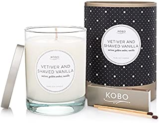 product image for Kobo Candles Kobo Soy Candle, Vetiver and Shaved Vanilla